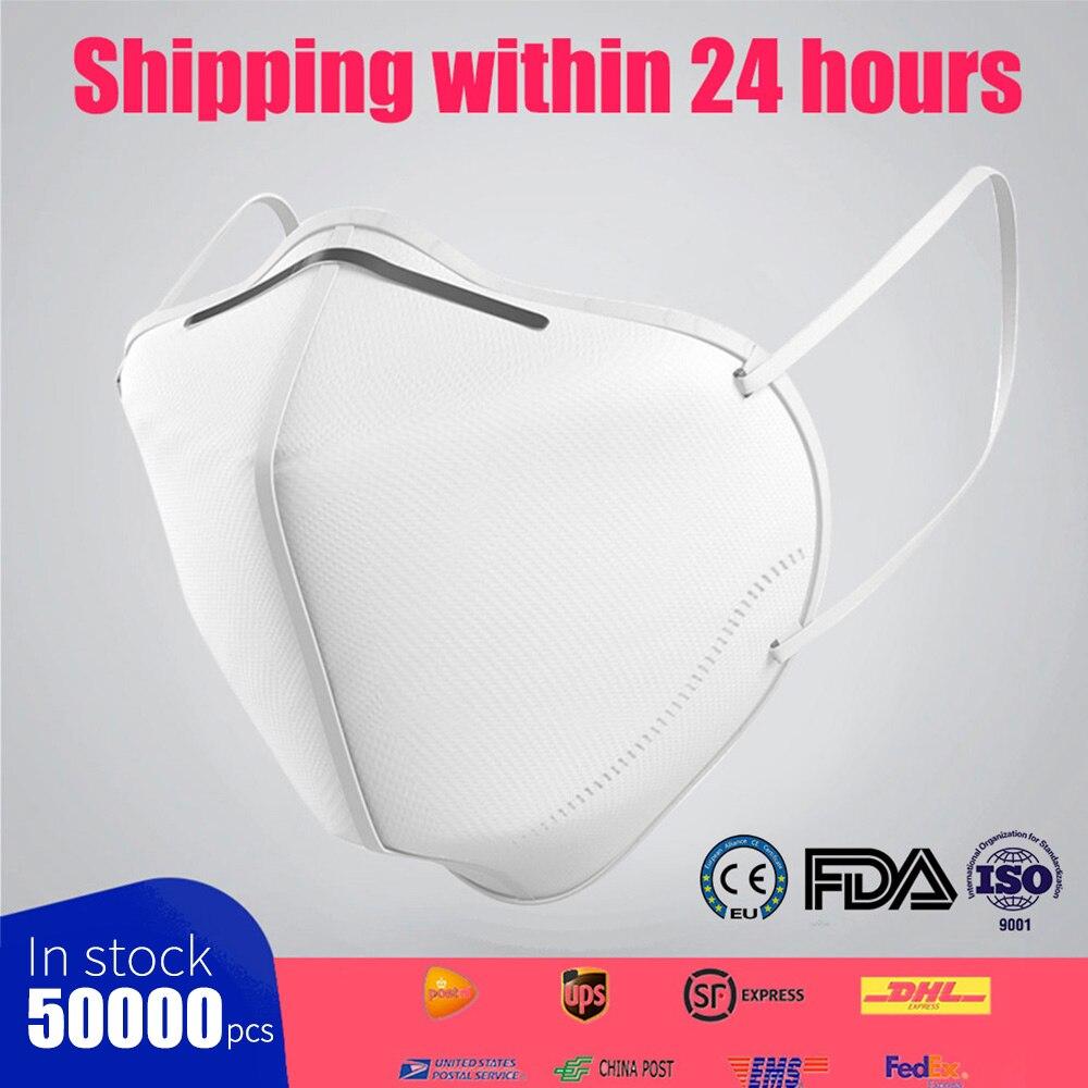 50000Pcs KN95 Ce Mask Face Dust Mask Dustproof Anti-fog And Breathable Face Mask 95% Filtration N95 Mask Respirator FFP2 Mask
