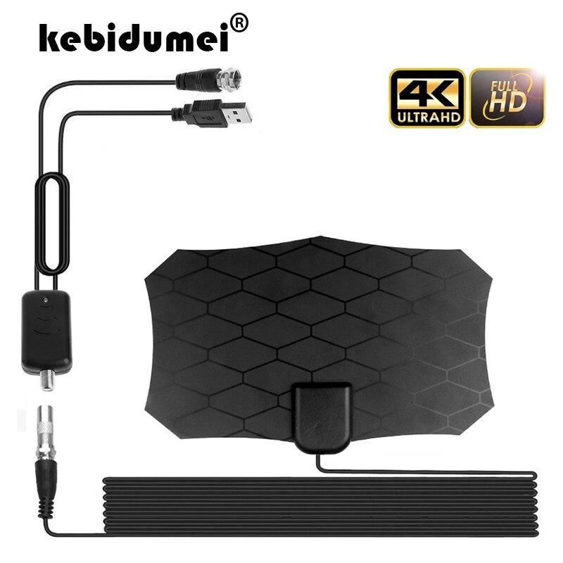 1080P 80 Mile Digital HDTV Antenna Amplified Range 4K VHF UHF Antenna Receiver