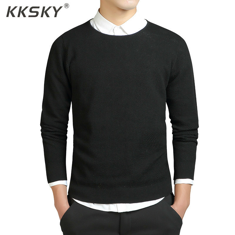 Solid Sweater Men Cotton Mens Sweaters And Pullovers O Neck Pull Homme Slim Long Sleeve Mens Sweaters Warm Knittwear Coat 3XL