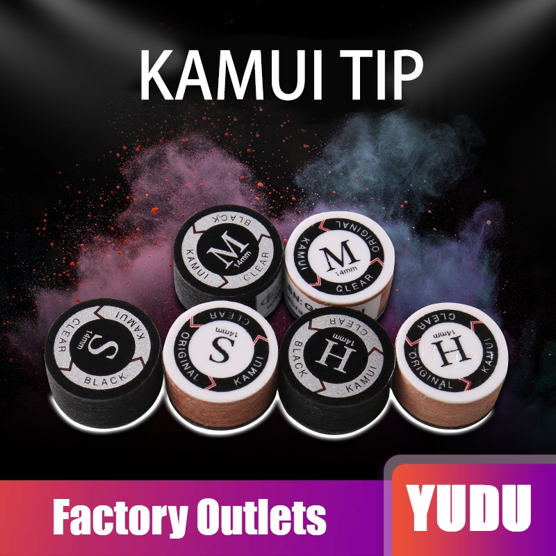 KAMUI Pool Cues Tips Black SS/S/M/H Snooker Cue Tip 11mm/14mm Durable Tips Billiard Accessories Professional Nine Ball 2019