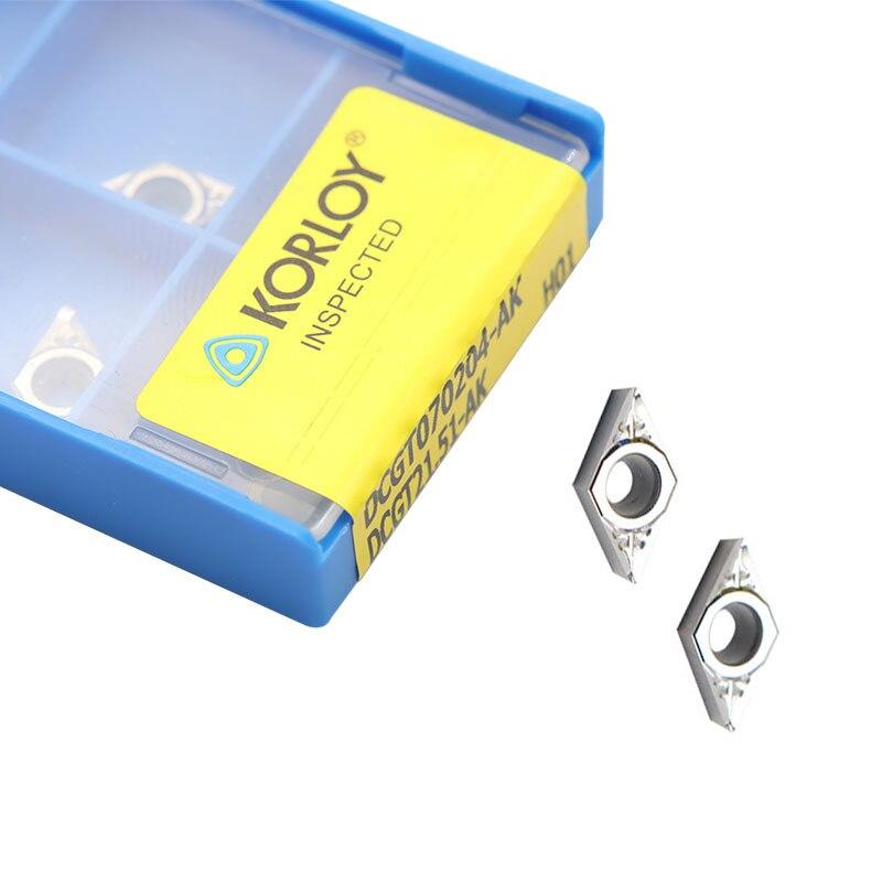 DCGT070204 AK H01 Высокое качество алюминиевый резак лезвие вставка для режущего инструмента токарные инструменты CNC инструменты AL + оловянный сплав Дерево DCGT 070204