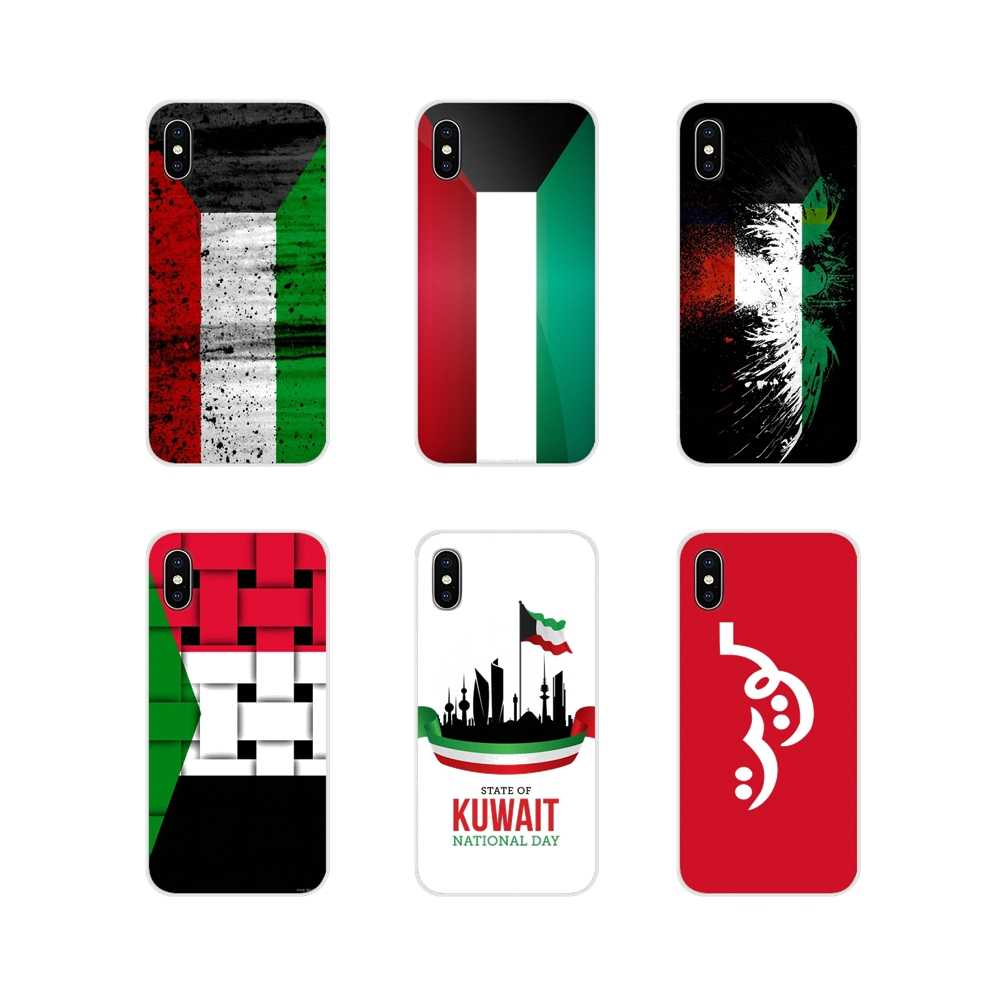 Transparent TPU Covers Customized Kuwait National Flag For Apple iPhone X XR XS MAX 4 4S 5 5S 5C SE 6 6S 7 8 Plus ipod touch 5 6