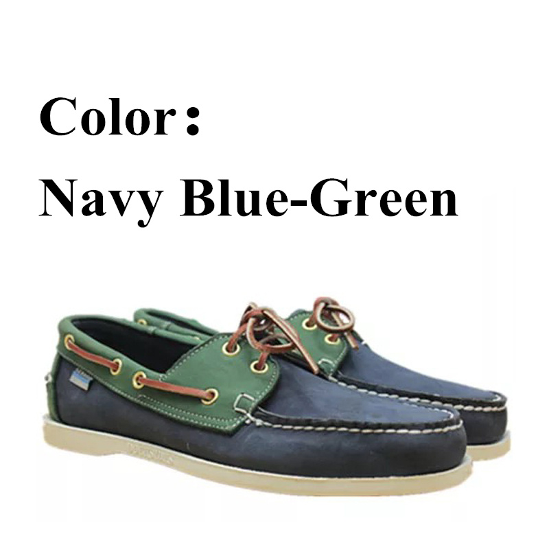 Men Genuine Nubuck Leather Docksides Casual Boat Shoes,Brand Designer Flat Loafers For Homme Femme Yellow Pink Color X132