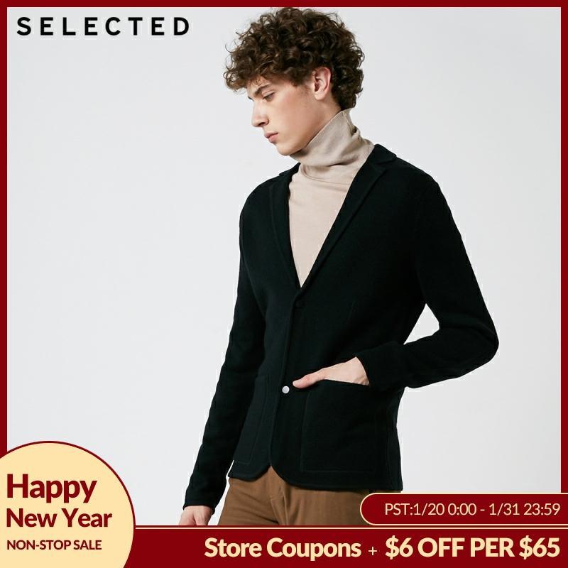 SELECTED Autumn & Winter Men's Suit Collar New Regular Fit Cardigan Sweater S | 418425542