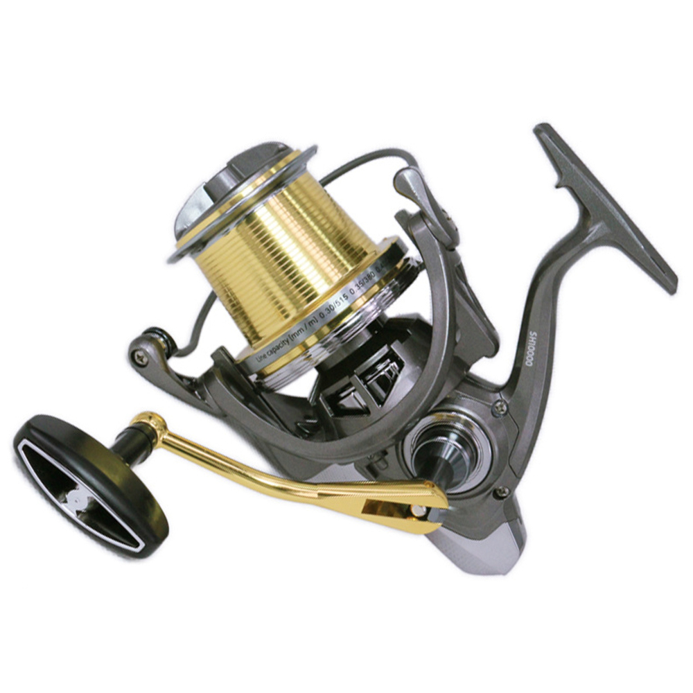 12000 Fishing Spinning Reel Distant Wheel Max Drag 20kg Lightweight Design Metal Big Wire Cup Spool Ocean Boat Rock Fishing