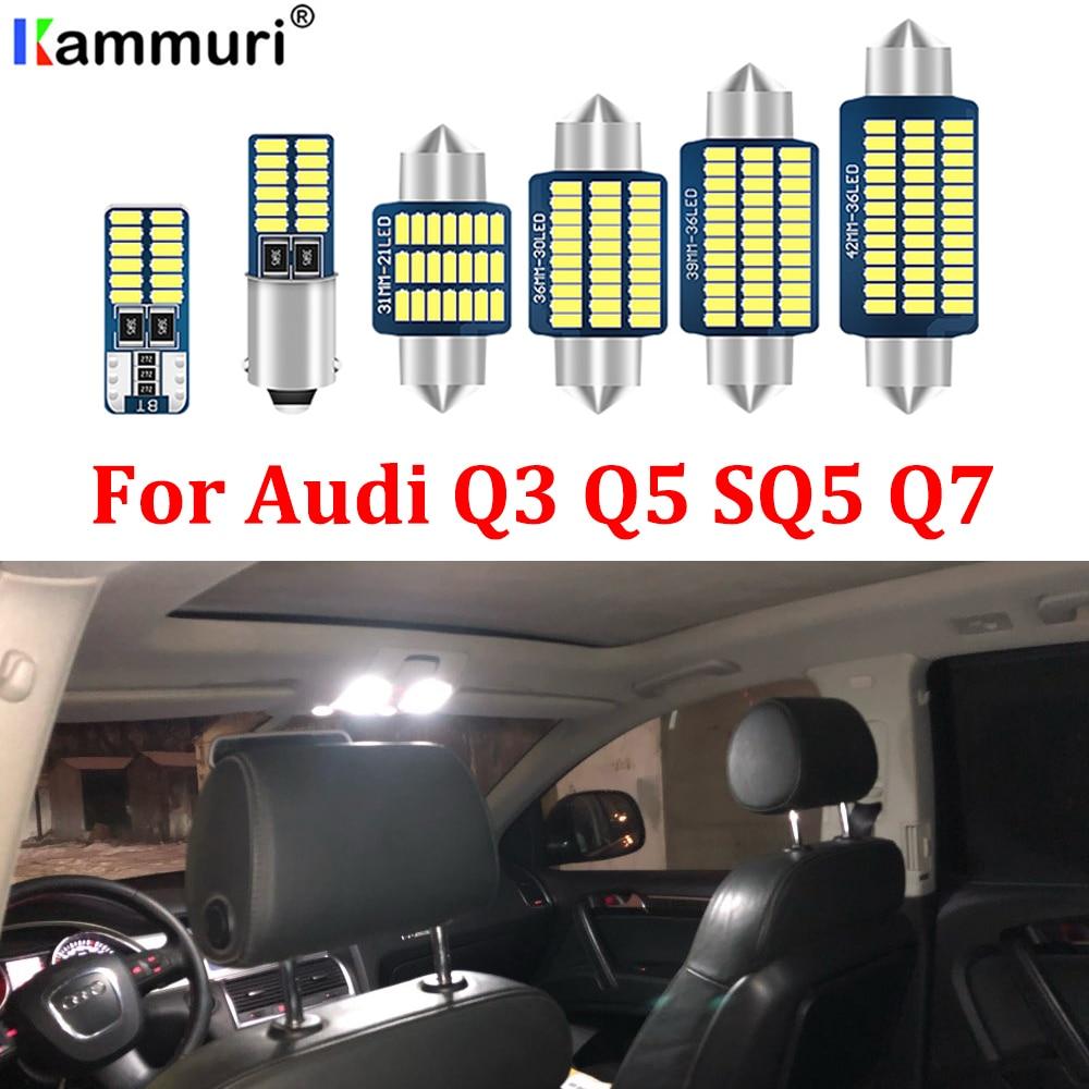 KAMMURI 100% White Canbus Error Free LED bulb interior dome map light Kit for Audi Q3 Q5 SQ5 Q7 FULL LED Interior Lights KIT