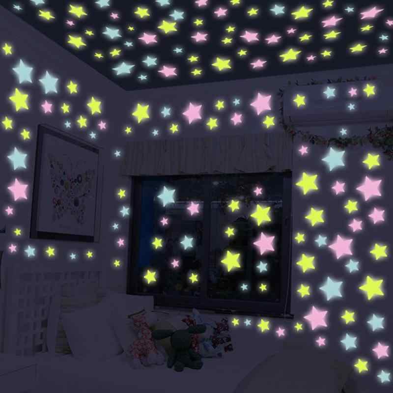 3Dダーク蛍光発光キッズルームリビングルームのための壁のステッカー壁の装飾家の装飾グロースティック