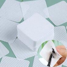 Lingettes en coton non pelucheuses pour enlever le vernis à ongles, nettoyant pour pointes de Gel UV, tampons en papier, outils de manucure, 100 pièces/paquet