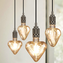 Caring LED Bulb Edison Bulb Peach Heart LED Filament Lamp Restaurant Coffee Shop Retro Decorative Light Source 220V 4W E27