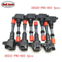 Left Corner 8X Genuine Japan HITACHI Rear And Front Ignition Coil For Honda Civic JAZZ FIT(China)
