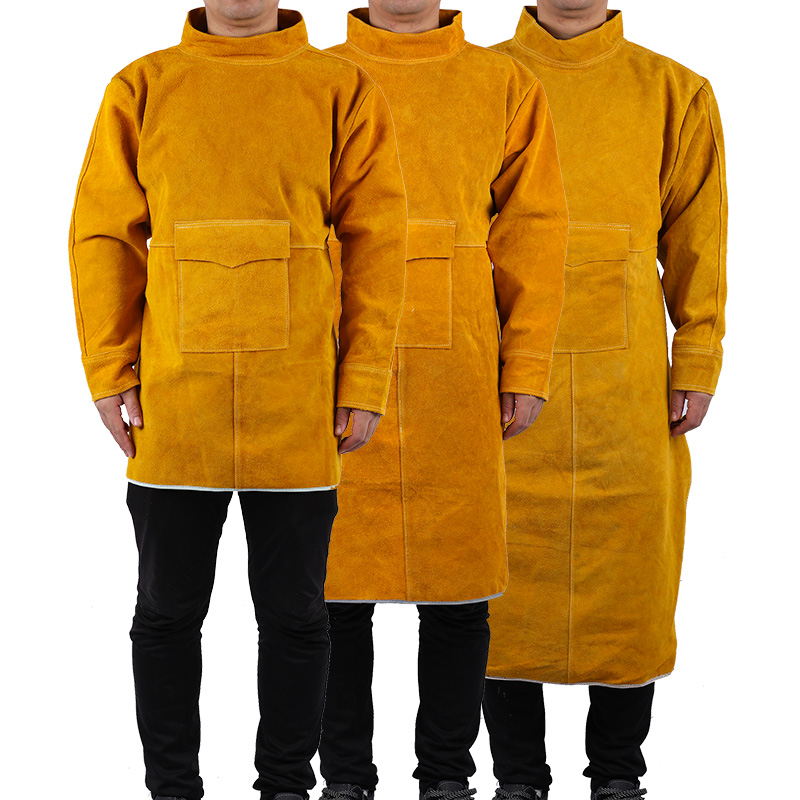 Cowhide Work Clothes Apron Welding Protective Clothing Heat and Fire Resistant Welders Safety Clothing  Welding Apron