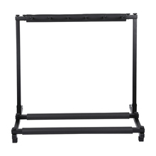 цена на New 5 Way Multi Folding Guitar Rack Stand by Chord For Electric Bass Acoustic