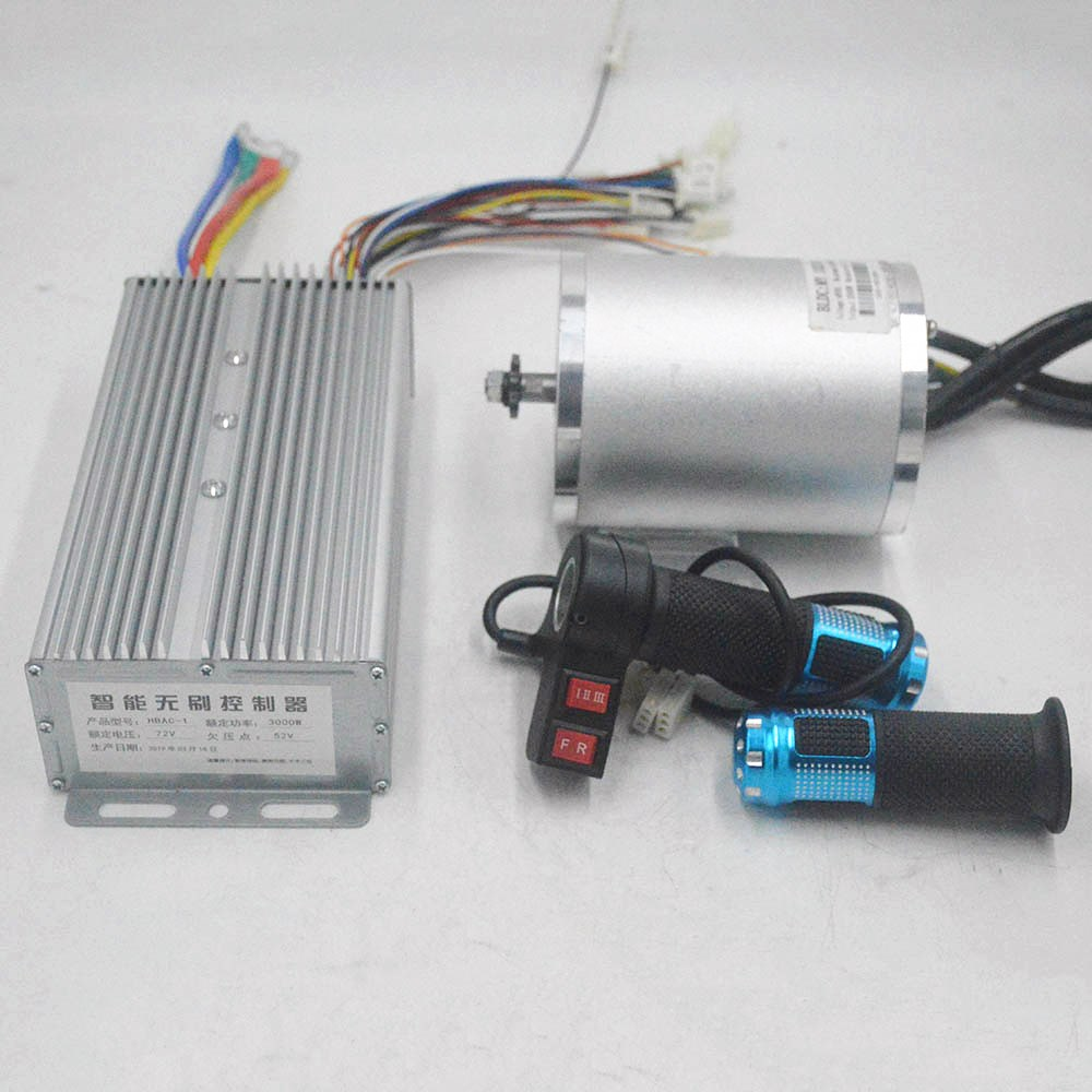72V <font><b>3000W</b></font> electric <font><b>motor</b></font> With BLDC Controller 3-speed throttle For Electric Scooter ebike E-Car Engine Motorcycle Part image
