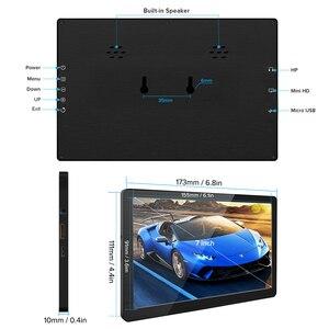 Uperfect 7 дюймов Мини портативный монитор IPS HD WLCD экран HDMI дисплей для ноутбука PS4 Xbox игровой монитор путешествия кино 450cd/m