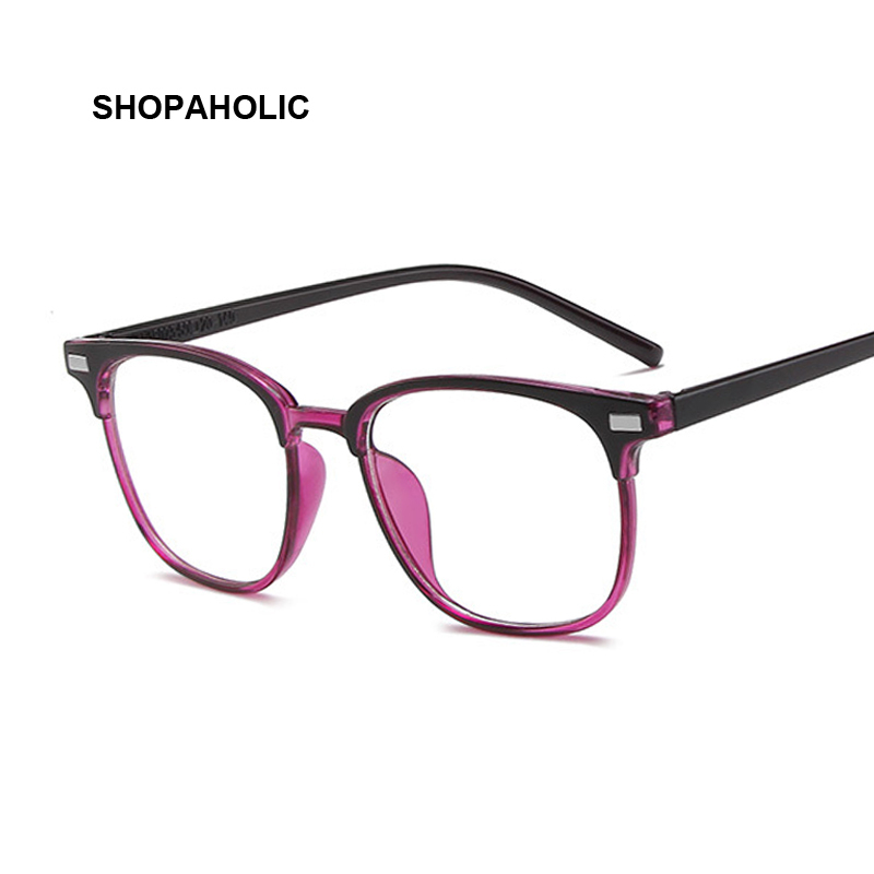 Vintage Square Anti Blue Light Glasses Frame Lens Myopia Optical Mirror Simple Metal Women Men Transparent Eyewear Frames