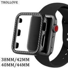 Защитный чехол из углеродного волокна для Apple Watch 5 4 3 2 1 iWatch 38 мм 42 мм 40 мм 44 мм бампер аксессуары для часов
