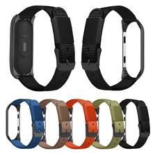 Premium Canvas Replacement Wristband With Black Frame Watch Band For MiBand 4 Mi 3 Xiaomi 4/3 Smart Bracelet