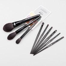 9pcs/set Goat hair Makeup brushes Set Powder Highlighter Concealer Eye shadow Blending Contour eye brow Lip Make up brush