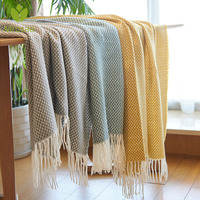 Modern New Multifunctional Throw Blankets Nordic Style Fringed Coffee Sofa Beds Cover Baby Soft Throw Rugs Christmas Home Decor