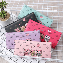 Women Wallets Cute Owl Lady Coin Purse Long Short Style Mone