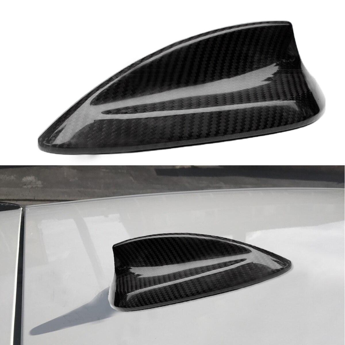 Для BMW 1 2 3 4 серии F20 F22 F23 F30 F31 F32 F34 F35 F80 Универсальная автомобильная настоящая карбоновая крыша плавник акулы антенна наклейка