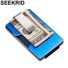 RFID алюминиевый Миниатюрный держатель карт кошелек антимагнитный Сплав Мужские Кредитные ID-карты чехол Модный женский тонкий Зажим для долларов кошелек