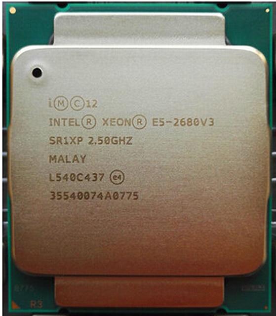 Intel Ксеон E5-2680V3 процессор 2,50 ГГц 30 Мб 120W SR1XP E5-2680 V3 LGA2011-3 12 ядер мини настольный Процессор E5 2680 V3