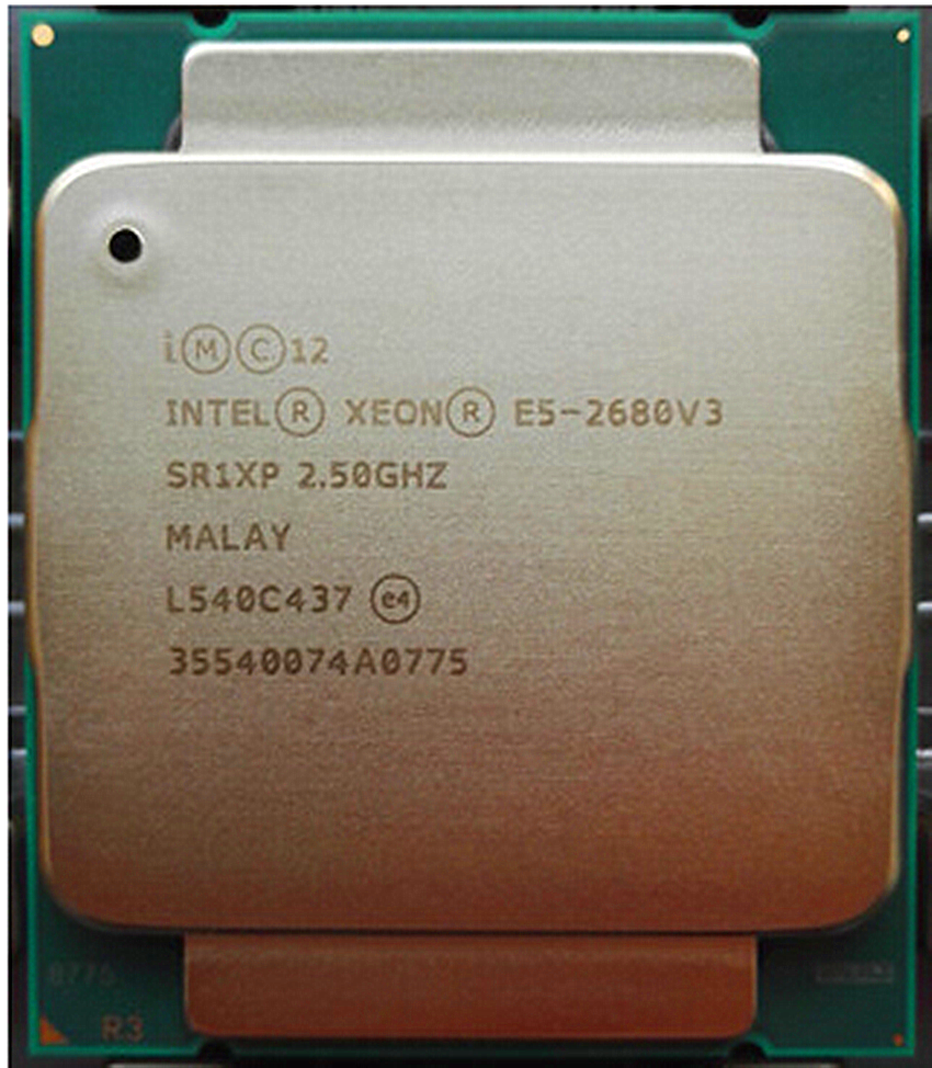 Intel Xeon E5-2680V3 Processor 2.50GHz 30MB 120W SR1XP E5-2680 V3 LGA2011-3 12-Cores Desktop CPU E5 2680 V3