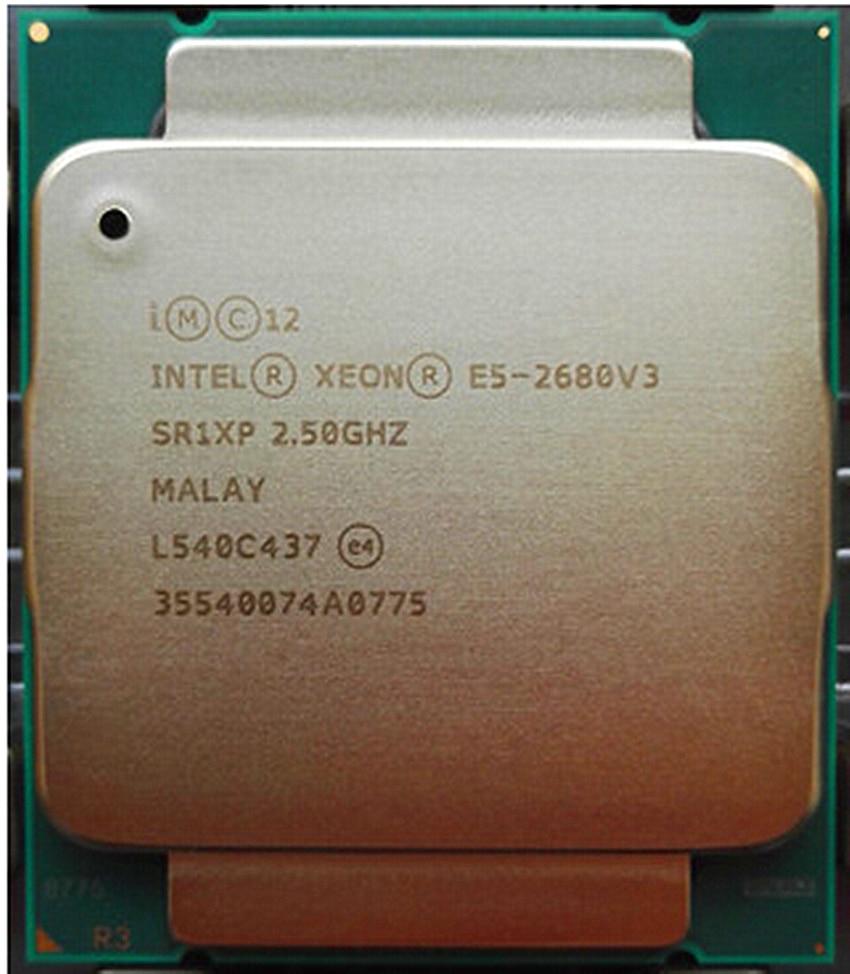 Intel Xeon E5-2680V3 Prozessor 2,50 GHz 30MB 120W SR1XP E5-2680 V3 LGA2011-3 12-Kerne Desktop CPU E5 2680 V3
