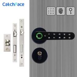 Elektronische Griff Smart Lock Fingerprint Biometrische Digitale Code Keyless Türschloss für Home Kompatibel Mit Verschiedenen Einsteckschloss