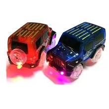 Led light up carros para o brilho pista de corrida carro eletrônico brinquedo piscando criança ferroviária luminosa máquina pista carro brinquedos