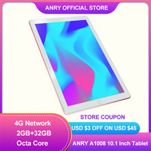 ANRY 10 zoll Tablet Pc MTK6737 Octa Core Android 8,1 2GB RAM 32RGB ROM Phablet IPS Bildschirm 4G anruf Tab