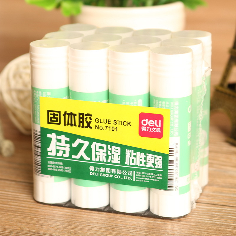 Deli 7101 Solid Glue Stick 9 Grams Office Type Strong Adhesive Solid Glue Students Handmade Solid Glue
