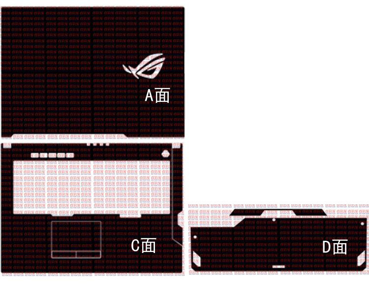 Laptop Carbon fiber Vinyl Skin Sticker Cover For ASUS ROG Strix G G731GV G731GU G731GW <font><b>G731</b></font> 17.3