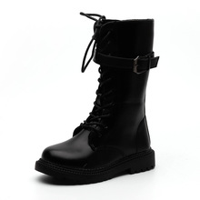 Shoes Matrin-Boots Motorcycle Girls' Boys' Winter Fashion Children's New Autumn All-Match