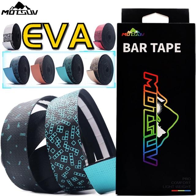 MOTSUV Road Bicycle Handlebar Tape Belt New Tetris design Cycling Handle Bar Tape Wrap Anti-slip Anti-sweat Strap +2 Bar Plugs