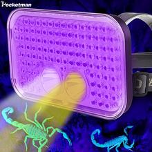 UV Headlamp LED 2 in 1 Black Light Head lamp Flashlight LED UV Torch for Pet Clothing Food Fungus Detection Night Fishing Travel cheap POCKETMAN CN(Origin) High Middle Low White UV led 180° ROHS detectors lighting LITHIUM ION IP65 Flashlight and UV light