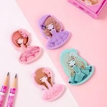 Kawaii szkoła koreańskie piśmiennicze gomme papeleria gumka ładna dziewczyna gumki ołówek dla dzieci biuro gumki do mazania silgi guma gumka