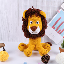 High Quality Knit Fabric Toy Lion Diy Knitting Toys Dinosaur Cotton Rope Plush Toy Sets Sale Nordic Style Birthday Gift Kit(China)