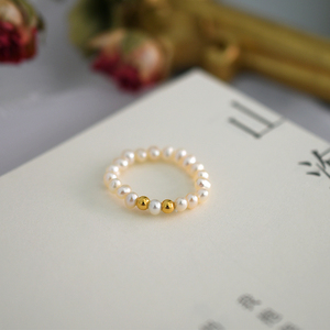Image 3 - ASHIQI Fashion 3 4mm Mini Small Natural Freshwater Pearl Couple Rings for Women Real 925 Sterling Silver Jewelry for Women Gift