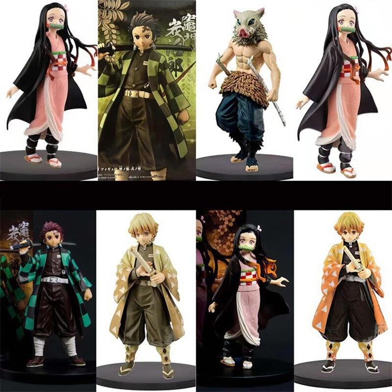 Demon Slayer Kimetsu No Yaiba Anime Figure Kamado Tanjirou Nezuko Hashibira Inosuke Agatsuma Zenitsu Action Figure Model Toys
