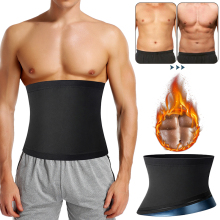 Mens Abdomen Reducer Sauna Body Shaper Fitness Sweat Trimmer Belt Waist Trainer Belly Slimming Shapewear Waist Trainer Corset We