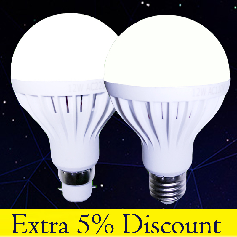 E27 E14 B22 Energy Saving LED Lighting Bulb Warm White White Led Lamp Foco  Bombilla Lampe3W 5W 7W 9W 12W