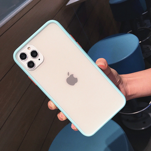 Image 4 - Trasparente antiurto Hybrid Cassa Del Telefono Del Silicone Per il iPhone 11 Pro max X XS XR 12 Mini 7 8 Più di 6S Opaca Clear Frame Soft Cover