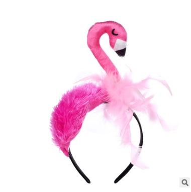 Flamingo hair scrunchies 2 pieces