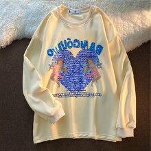 Japanese Preppy Style Streetwear Vintage Women Hoodies Korean High Street Oversize Sweatshirts Harajuku Cartoon Print Hoodie