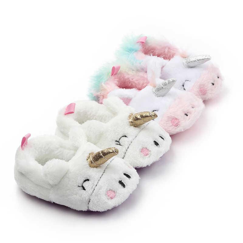 יילוד תינוק בנים ילדה הראשונה הליכונים אנטי להחליק חורף חם פעוט רגל מגפוני כפכפים רך בלעדי תינוק עריסה נעליים