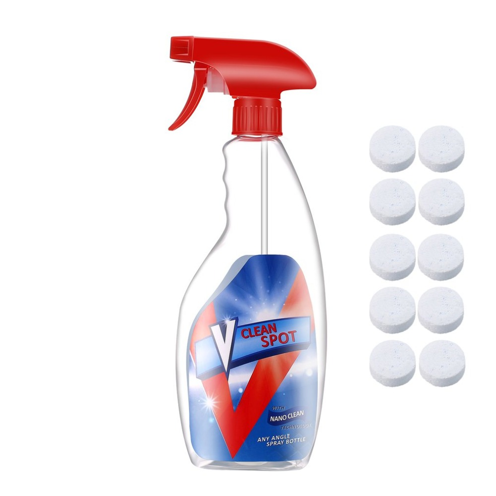 HOT 10pcs Multifunctional Effervescent Spray Cleaner Multi-Purpose Home Kitchen Cleaning Effervescent Spray Cleaner