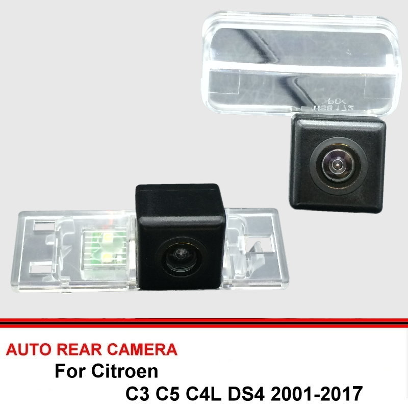For Citroen C3 C5 C4L DS4 DS 4 2001-2017 Night Vision Rear View Camera Reversing Camera Car Back Up Camera HD CCD Vehicle Camera