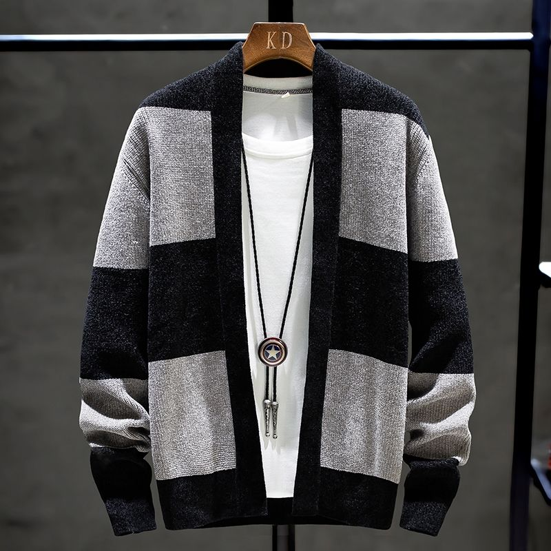 2020 Autumn New Men's Sweater Cardigan Fashion Cool Men's Shirt Sweater Coat Cotton Knitwear Men